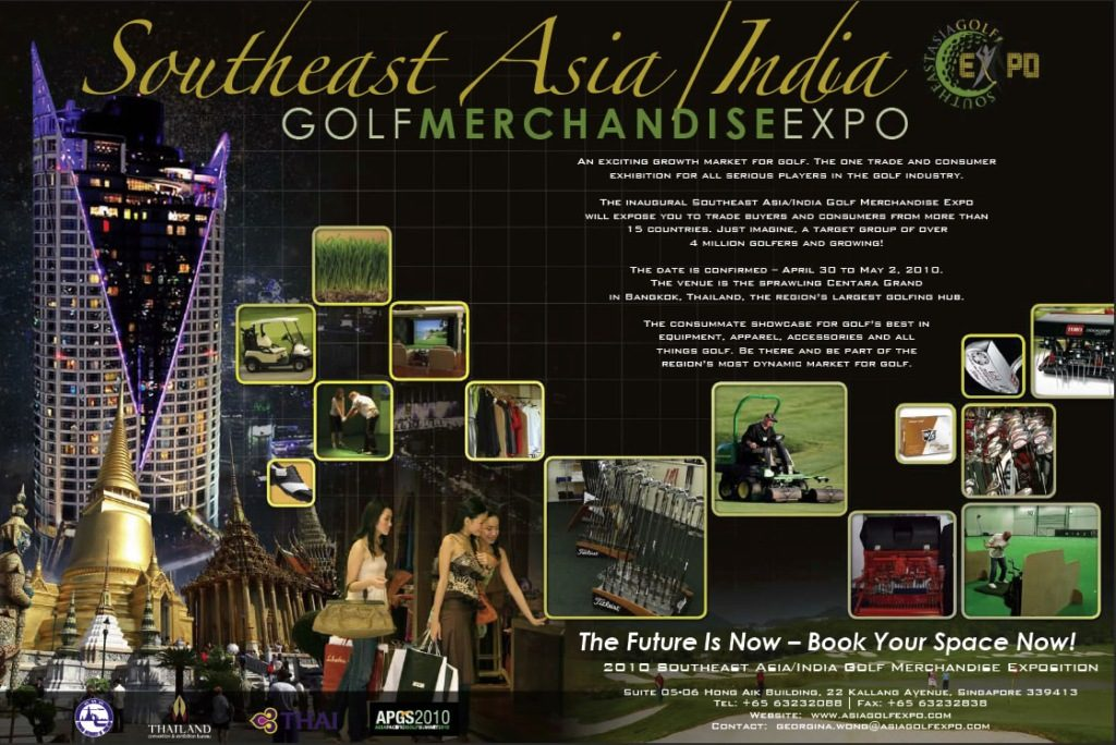 Golfasian is Official Golf Tour Operator of the Southeast Asia/India Golf Merchandise Exposition 2010