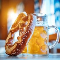 Beer and Pretzel, Oktoberfest Munich, Germany